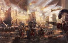 Wallpaper roman army, centurion, legionaries, siege, ballista, egypt, bombard
