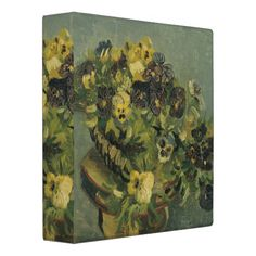 Basket of Pansies on a Small Table by Van Gogh Vinyl Binder