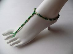 Check out this item in my Etsy shop https://www.etsy.com/listing/225189362/beautiful-st-pattys-day-soleless-sandal