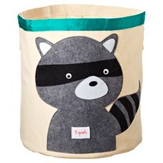 The Container Store > Racoon Canvas Bin