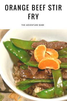 Looking for a yummy easy dinner? Try this stir fry for dinner tonight! Egg Free Recipes, Fruit Recipes, Beef Recipes, Orange Beef, Beef Stir Fry, Orange Recipes, Spring Recipes, Healthy Dinner Recipes, Dinner Ideas