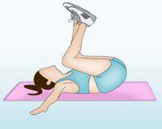 Exercice ventre plat : l'enroulement