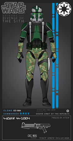 Clone Commander Gree (Phase II) by on DeviantArt Star Wars Clone Wars, Star Wars Rpg, Star Wars Pictures, Star Wars Images, Star Wars Characters, Star Wars Episodes, Guerra Dos Clones, Star Wars Concept Art, Star Wars Outfits