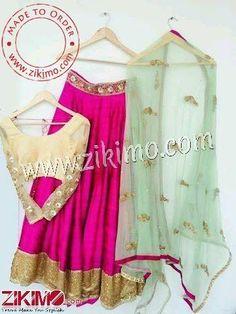 CUSTOMIZE IN ANY COLOR & SIZE. Shop @https://goo.gl/XlPn4h Stunning Pink Party Wear lehenga With tan color Choli Contrasting Green Dupatta  #PunjabiSuits #PujabiSalwarKameez #DesignerSuits #Jatti #PunjabiWeddingSuits #wedding #lehengas #anarkali #lehengas  #kalidar #lehengas #indian #zikimo #ethniclehengas  #kalidar #ethnicsuit #anarkalistyle #weddingwear #ethnicwear #dressmaterial #onlineshopping #dressmaterial #weddingwear #trending #peachsuit #ethnicwear #onlineshopping #DesignerBoutique…
