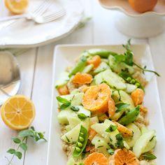 Orange cucumber Spa Salad