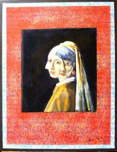 Meisje met de parel laurensgielen.nl History Class, Art History, Girl With Pearl Earring, Dutch Golden Age, Johannes Vermeer, American Gothic, Classical Art, Girls Earrings, Face Art