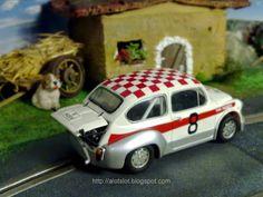 Fiat Abarth (Altaya) in my Slot Car Track #fiat #abarth #altaya #italiancar #SlotCarTrack #slot #hobby #scenary #slotcar #alotslot #scalextric #scx #ninco #carrera #slotit #rally #rallycar #racing #race #dreamcar #wrc #gp #gt #f1 #lemans #diorama #scale132 #hobby #modelism #diecast  #miniature