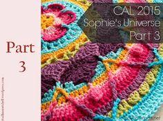 Sophies Universe Part 3 CAL 2015 Lookatwhatimade Sophie's Universe CAL Part 3 Crochet Blocks, Crochet Squares, Crochet Granny, Crochet Blanket Patterns, Crochet Stitches, Granny Squares, Motif Mandala Crochet, Crochet Doilies, Manta Mandala