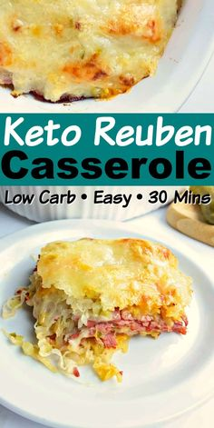 If you're a fan of the classic Reuben sandwich, then you're gonna LOVE this Easy Keto Reuben Casserole! Quick, and easy to assemble Keto casserole! Low Carb Keto, Low Carb Recipes, Diet Recipes, Cooking Recipes, Healthy Recipes, Egg Recipes, Healthy Options, Kitchen Recipes, Easy Cooking