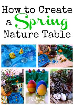 How to create a spring nature table