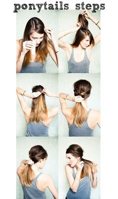Cute, different ponytail to wear to workout