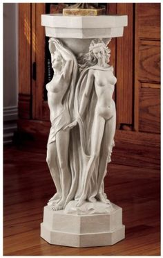 A trio of graceful worshippers of Dionysus. The Design Toscano Column of the Maenads Sculptural Pedestal is a lush addition to your indoor or outdoor. Wall Sculptures, Sculpture Art, Garden Sculptures, Abstract Sculpture, Display Pedestal, Ancient Greek Art, Animal Statues, Bacchus, Objet D'art