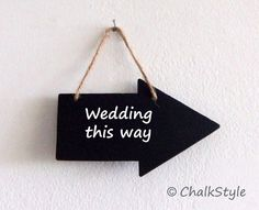 Mini Chalkboard Arrow Sign Two Sided Small Chalk by ChalkStyle