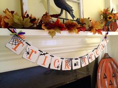Halloween Decoration Trick Or Treat Banner Happy by ClassicBanners