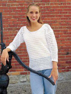 Oversize Blouse free crochet pattern