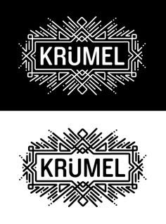 KP: Love the deco shapes and block font.