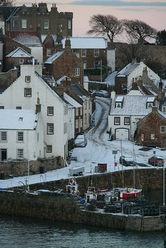 Crail in Winter by Edinburgh
