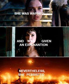 Damn straight she persisted! #WonderWoman