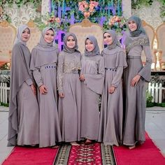 New Wedding Dress Hijab Gowns Style Ideas Hijab Evening Dress, Hijab Dress Party, Hijab Style Dress, Muslimah Wedding Dress, Hijab Wedding Dresses, Simple Bridesmaid Dresses, Bridesmaids, Moslem Fashion, Beach Party Outfits