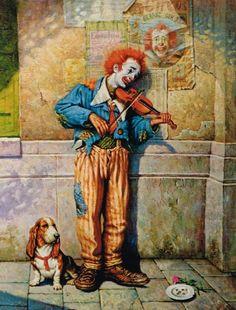 Clown by Petar Meseldzija. - Clown by Petar Meseldzija. Clown by Petar Meseldzija. Es Der Clown, Le Clown, Clown Faces, Creepy Clown, Image Cirque, Pierrot Clown, Clown Paintings, Vintage Clown, Send In The Clowns