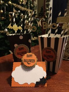 Free Shipping! Halloween Inspired Popcorn Boxes (set of 12)