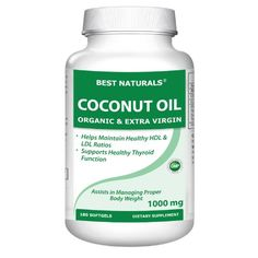 Best Naturals Extra Virgin and Organic Coconut Oil Softgel, 180 Count | Your #1 Source for Beauty Products
