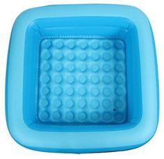 EOZY Baignoire Douche Gonflable Enfant Baignoire Bain Bébé Naissance Mini Piscine Pataugeoire Bleu