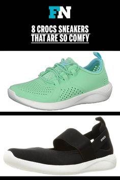 Crocs Literide sneakers. #crocs #crocsshoes #comfortableshoes #sneakers Lace Sneakers, Kids Sneakers, Canvas Sneakers, Comfortable Fashion, Comfortable Shoes, Crocs Shoes, Comfy Shoes, Celebrity Look, Footwear