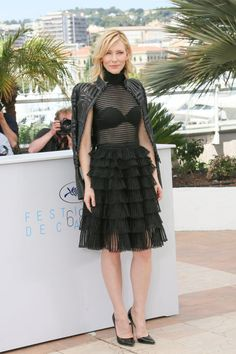 Cate Blanchett in Alexander McQueen. See all the best looks from the 2015 Cannes Film Festival.