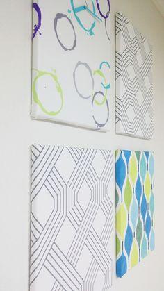 My House fabric wall deco(+ clock). DIY.  북유럽 원단+가왁구 캔버스 틀+ 시계 부품 - 옥션구매.. 총비용 : 23,000원