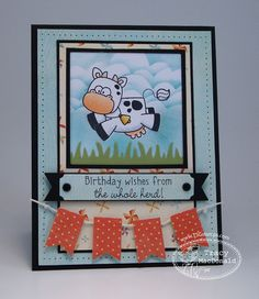 There She Goes Clear Stamps - Oh crop birthday card - layout - bjl