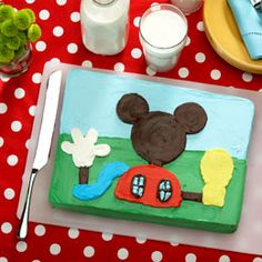 easy Mickey Mouse Clubhouse cake you can do, especially if on a budget. Step by Step instructions :)