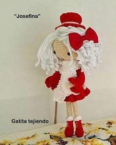 """Muñeca """"Josefina"""" (basada e inspirada e inspirada en la diseñadora Carmen rentería)  #amigurumis"""