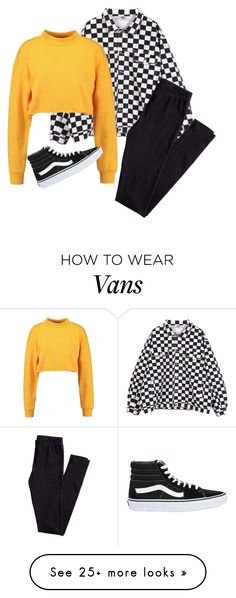 """vans"" by teenageculture on Polyvore featuring H&M and Vans"