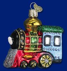 """Small Locomotive"" (46003) Old World Christmas Glass Ornament"
