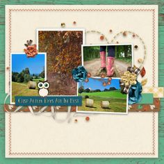 Layout created using Ready For Fall kit by Dandelion Dust Designs and AYOB temp freebie by Blue Heart Scraps. Autumn Day, Fall, Green Texture, Brown Flowers, Cut Out Design, White Letters, Gold Nails, Word Art, Hot Chocolate