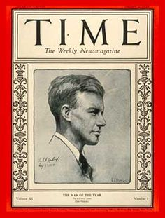 Charles Lindbergh, Time magazine's Man of the Year.
