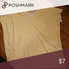 LayereD LOOK TSHIRT NWOT 1 shirt that looks like 2. Light yellow over white! Cute!! Style & Co Tops Tees - Short Sleeve