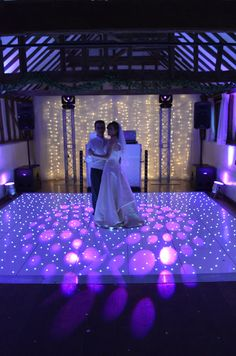 This is a photo from an absolutely stunning wedding at the Reid Rooms. The couple had a beautiful white starlight dance floor and backdrop for their evening disco. #whitestarlightleddancefloor  https://www.leddancefloor.info