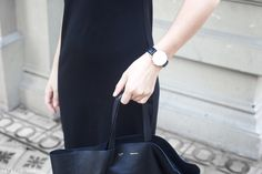 Trini | Daniel Wellington watch Gap black dress Celine Cabas bag