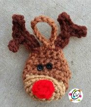 free reindeer ornament crochet pattern