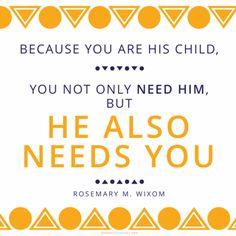 God needs you.