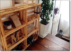 ●セリアのナチュラルウッドボックスを使用*色染め、合体させると雑貨の似合う可愛いミニシェルフになりました。セリアで買ったものあれこれと工場リノベのお洒落カフェも● :: ・:*:ナチュラルアンティーク雑貨&家具のお部屋・:*|yaplog!(ヤプログ!)byGMO