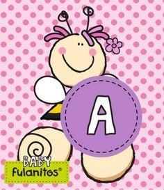 Tarjetas aprendemos las vocales con BABY FULANITOS