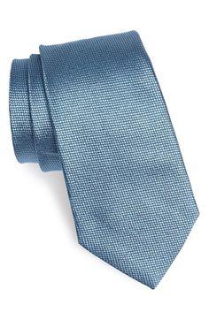 Men's Armani Collezioni Woven Silk Tie - Blue/green