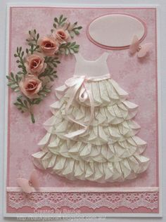 Baukje's Cards and Crafts: Dahlia fold Baby Dress