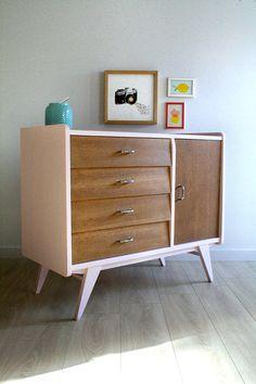 Vintage Madeline dresser / sideboard renovated and restyled by Les Jolis Meubles Furniture, Retro Furniture, Buffet Furniture, Bedroom Furniture, Diy Furniture, Painted Furniture, Diy Dresser, Refinishing Furniture, Furniture Decor