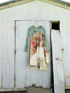 altered clothing / upcycled dress / fashion / Funky Lagenlook Dress / Eco Dress / by CreoleSha, $125.00