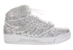 Swarovski x Colette x adidas Originals Jeremy Scott J-Wings Sneakers Adidas Superstar, Adidas Sneakers, Adidas Jeremy Scott Wings, Adidas Tumblr Wallpaper, Stiletto Pumps, Hot Shoes, Adidas Women, Designer Shoes, Crystals