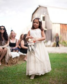 The Flower Girl, love the flowers in a pail